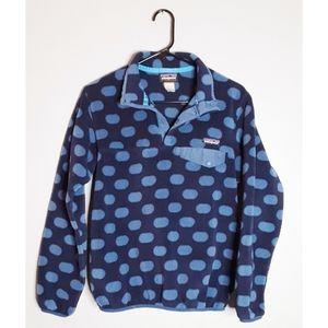 Patagonia Synchilla Jacket Polka Dot Blue Size S